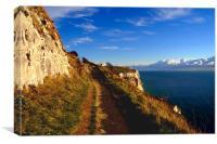 White Cliffs of Dover - Cliff Edge, Canvas Print
