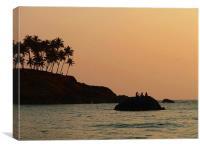 Silhouettes Near Sunset, Canvas Print