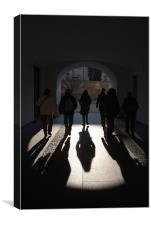 Light at the End of the Tunnel, Prague Castle, Canvas Print