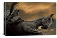 Statue of Wenceslas, Wenceslas Square, Prague, Canvas Print