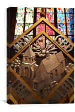 Metal Decoration in St Vitus Cathedral, Prague, Canvas Print