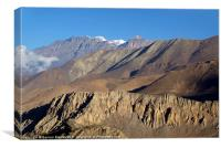 Scenery from Road to Jomsom, Canvas Print