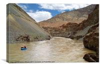 Rafting on the Zanskar River, Canvas Print