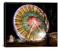 Christmas Wheel, Canvas Print