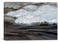 Ice on the Rocks, Canvas Print