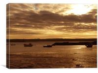Lindisfarne Harbour, Canvas Print