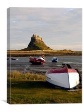 High & Dry on Lindisfarne - 2, Canvas Print