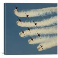 Red Arrows Head On, Canvas Print