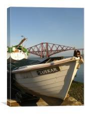 Boats & The Bridge, Canvas Print
