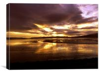 Sunset over the Cromarty Firth, Canvas Print