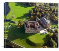 Linlithgow Palace from the air, Canvas Print