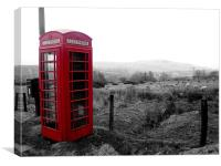 Phone box in Wales, Canvas Print