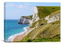 White Cliffs Of Dorset, Canvas Print
