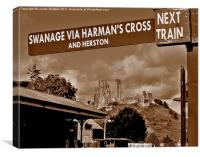 Train To Corfe, Canvas Print