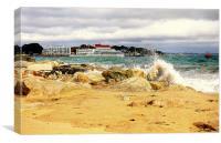 Sandbanks From Shell Bay, Canvas Print