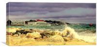 Sandbanks From Shell Bay 2, Canvas Print