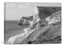 The White Cliff Of Lulworth, Canvas Print