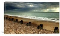 Hayling Beach Hayling Island, Canvas Print