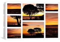 Lepe Collage, Canvas Print