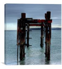 Lepe Dolphins, Canvas Print