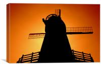Windmill Silhouette, Canvas Print