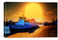 Solent Scene Poole, Canvas Print
