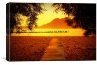 Orange Haze, Canvas Print
