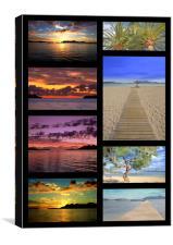 Puerto Pollensa Collage, Canvas Print