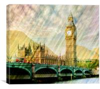 Abstract Big Ben, Canvas Print