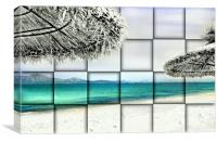 Beach Squares, Canvas Print