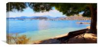 Enjoy The View Puerto Pollensa, Canvas Print