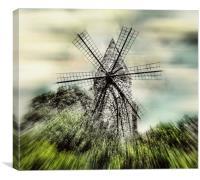 Mallorcan Windmill, Canvas Print