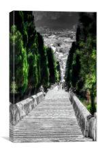 Calvary Steps Pollensa, Canvas Print