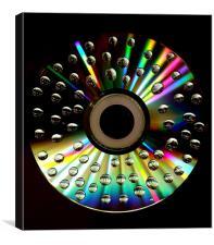 CD Drop, Canvas Print