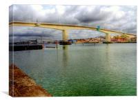 Bridge Over The River Itchen, Canvas Print
