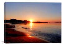 Sunrise Over Puerto Pollensa, Canvas Print