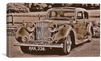 Jaguar Mk4, Canvas Print