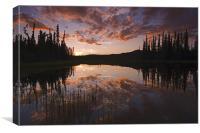 Yukon nights , Canvas Print