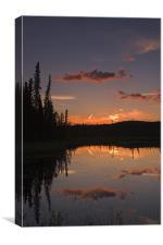 Yukon night III, Canvas Print
