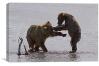 Bear dance, Canvas Print