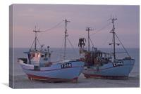 Fisher boats at dusk, Canvas Print