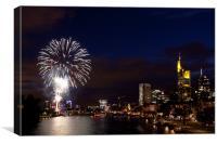 Fireworks in Frankfurt, Canvas Print