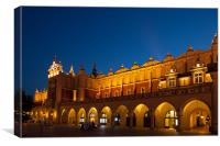 Old market hall in Cracow, Canvas Print