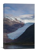 Svartisen glacier, Canvas Print
