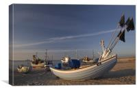 Sandy harbor, Canvas Print
