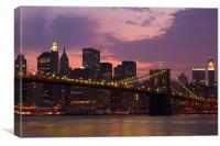 New York @ night, Canvas Print