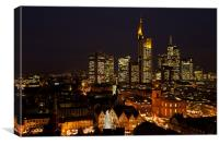 Nightly view from the Frankfurt dome, Canvas Print