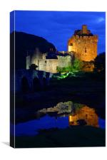Eilean Donan at night II, Canvas Print