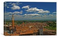 Siena Panoramic II, Canvas Print