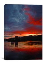 Burning scottish sky , Canvas Print